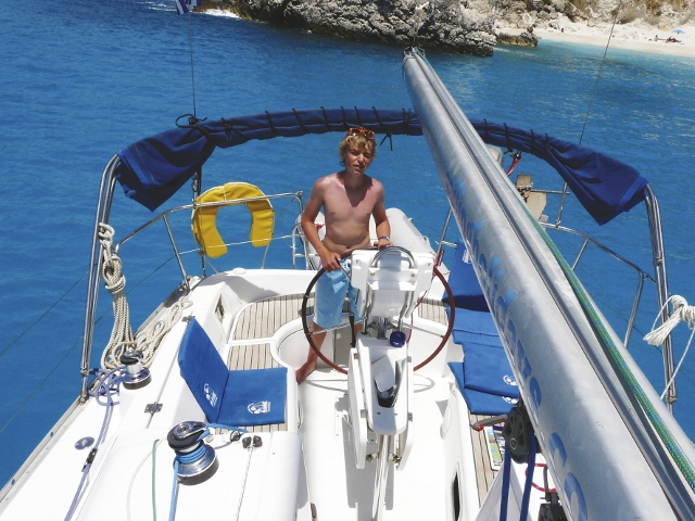 Lefkas - May 2013 - Anchoring at Agiofili 640x480