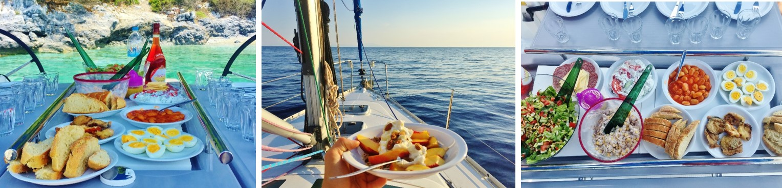Saronic Eating on board Triple Picture
