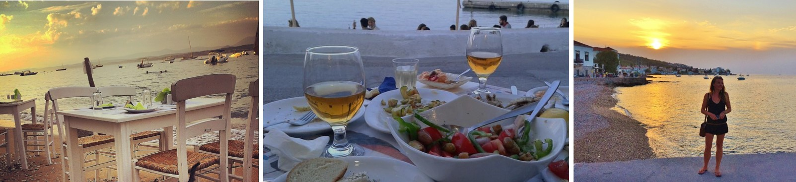 Saronic Foodie Spetses Beachside Taverna Triple Picture