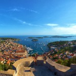 Hvar Town & The Pakleni Archipalego from above courtesy of the Croatian National Tourist Board