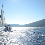 Beneteau 40 Sailing into the sun