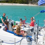 Lunch on board Beneteau 40