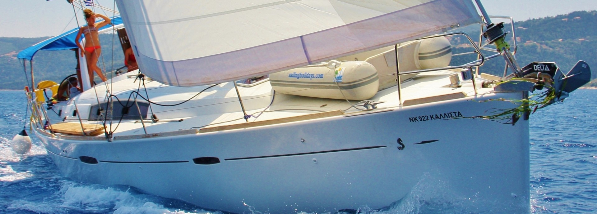 Beneteau 50 sailing along