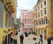 Colourful buildings in Corfu Town