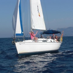 Dufour 36 sailing along