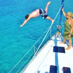 Jumping off the boat!