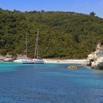 Voutoumi bay AntiPaxos two yachts