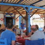 Briefing in the taverna in the Sporades