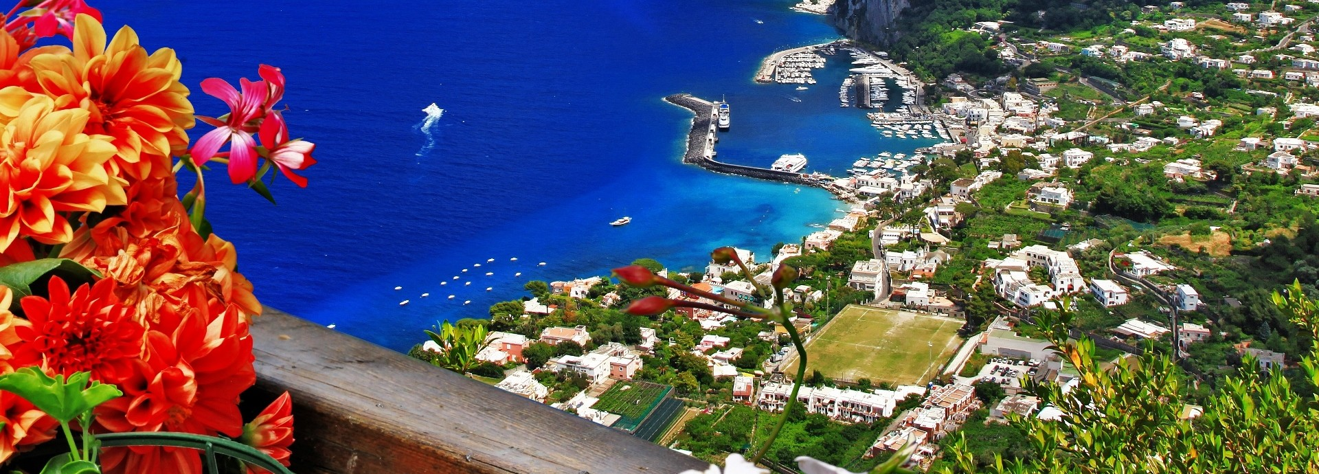 A view of gorgeous Capri Island