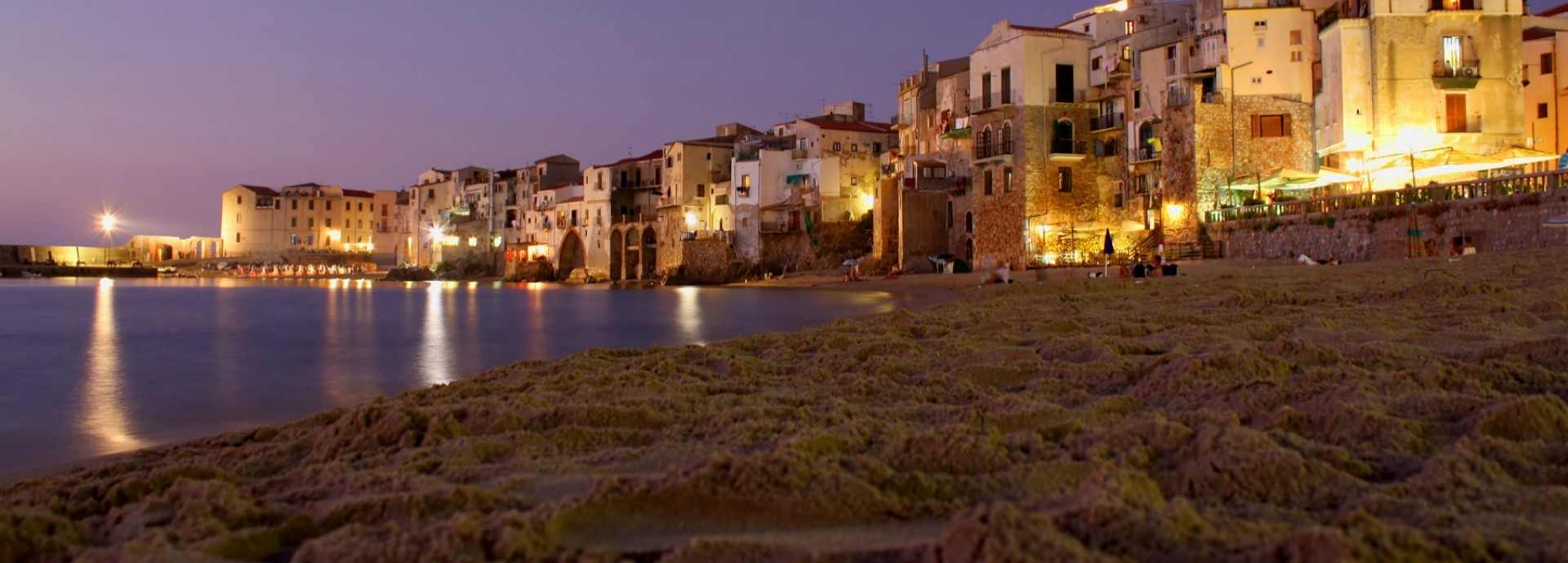 Cefalu at night