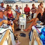 Drinks on board the Beneteau 50 in the Saronic Islands 2015