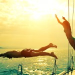 Jumping off the yacht in Turkey 2016