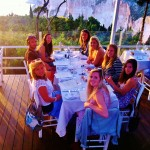 Dinner at the sunset restaurant on the west coast of Paxos Island