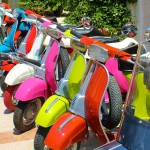 Vespas for hire in Porto Cervo Sardinia