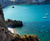Ponza island bay with yachts