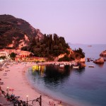 Parga beach in the evening