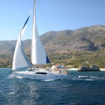Beneteau 40 Sailing past Kalamos 2