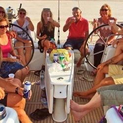 Drinks on board the Beneteau 50 in Navplion