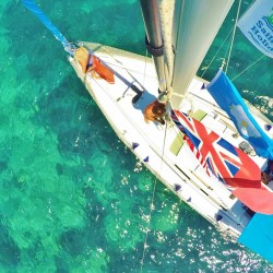 Beneteau 323 from above