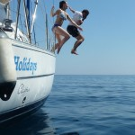 Jumping off the Beneteau 323