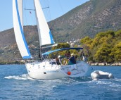 Beneteau 361 Sailing in the South Ionian off Skorpios