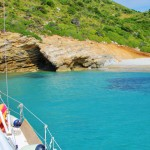 Anchored in a bay in the Sporades Islands