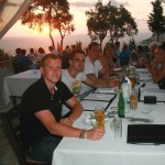 Dinner at Sunset Bar Paxos