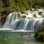 Krka Waterfalls People