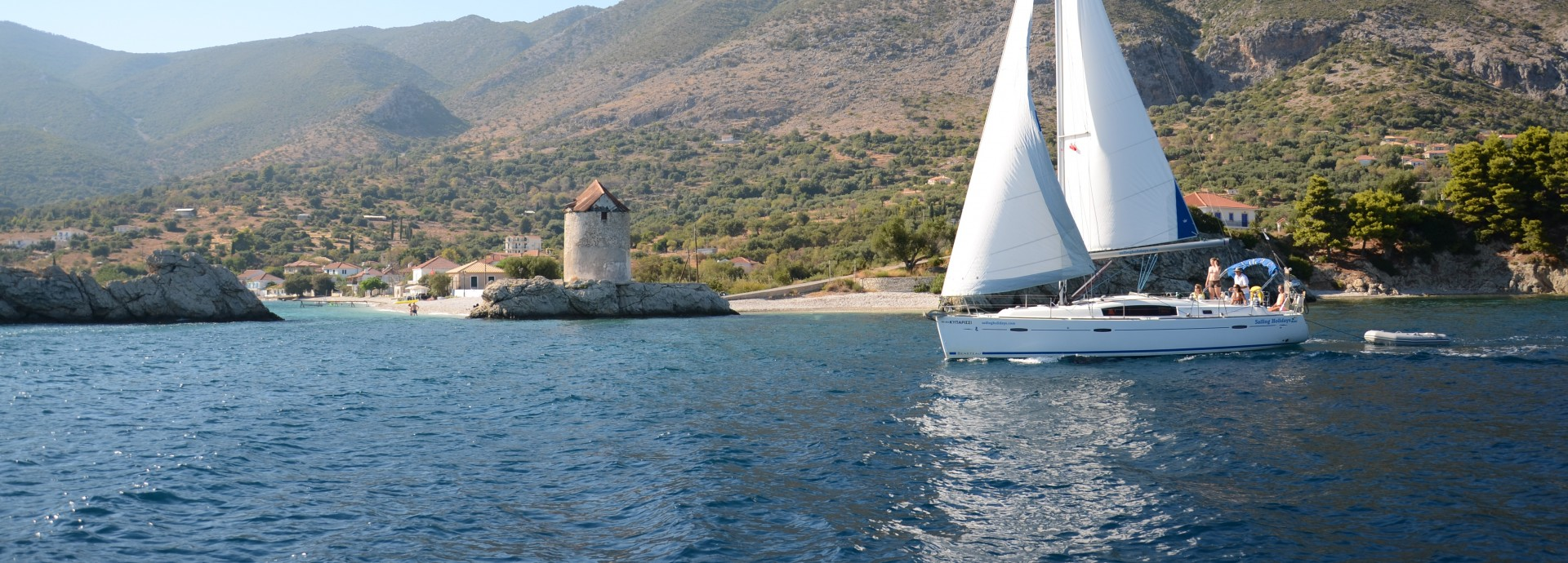 Beneteau 40 Sailing past Kalamos