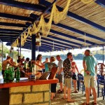 Drinks by the water in the Saronic Islands