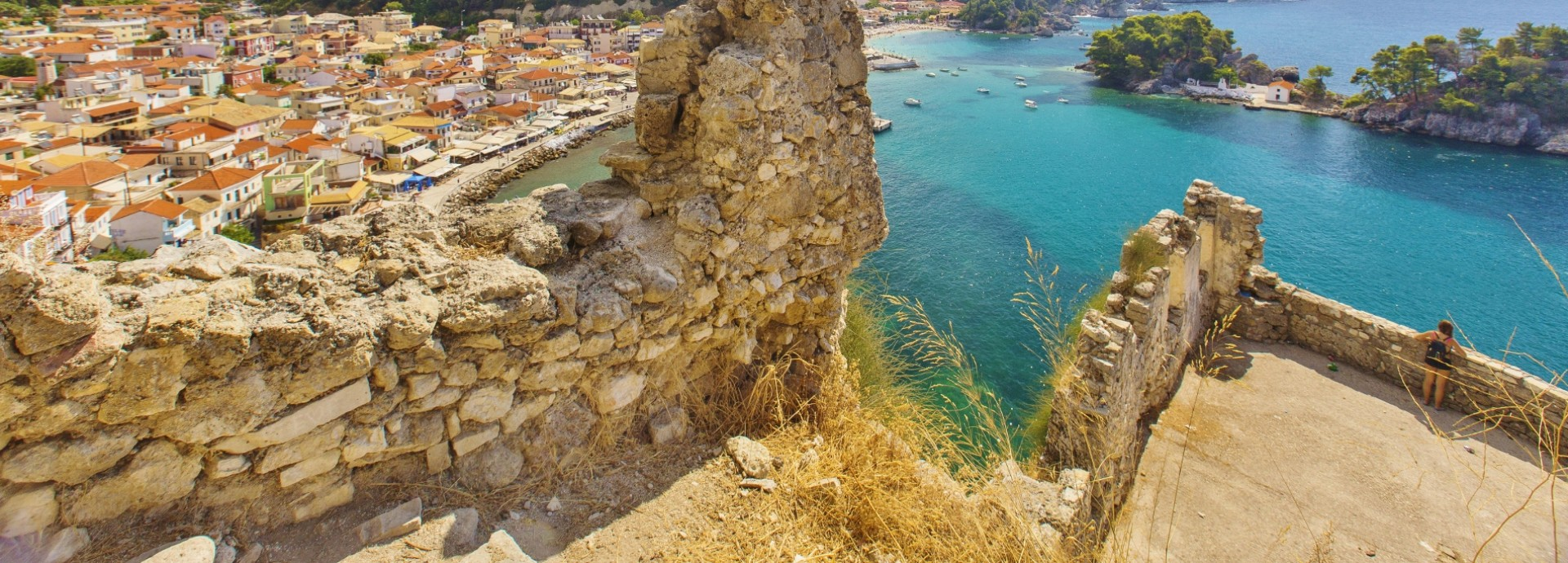 Parga Town View from the Fort - taken by David Bentley