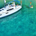 Beneteau 35 anchored on Atoko Island in the Ionian