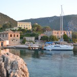 Moored up at Port Leone, Kalamos