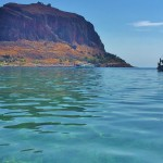 The view of Monemvasia from the water