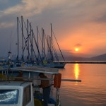Sunset in Orei, Sporades Islands