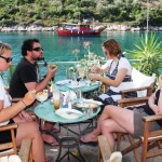 Eating in Steni Vala, Sporades