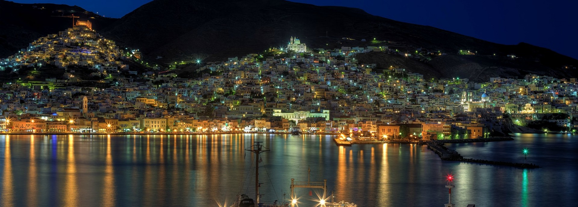 Syros at night