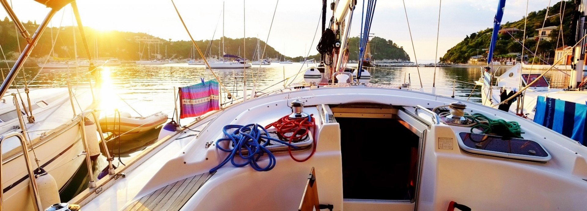 Rod Warren's sunset in Lakka, Paxos Island, on a Beneteau 393