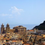 Cefalu town view