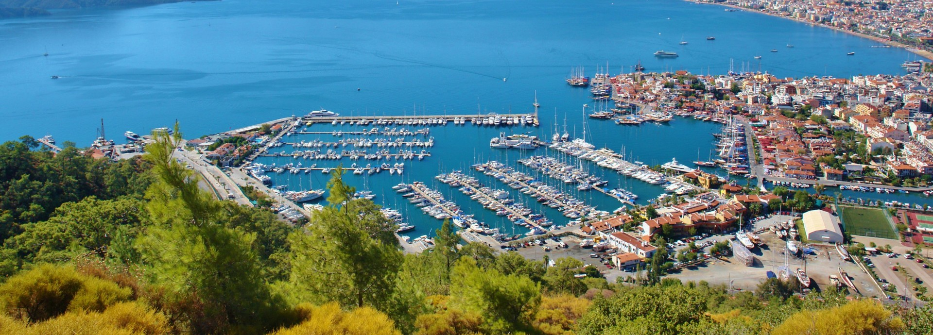 Marvellous Marmaris Marina from above