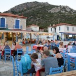 Dinner in a taverna at Kiriaki Sporades