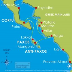 Paxos 1 week flotilla map