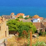 The view from the top of town in Monemvasia