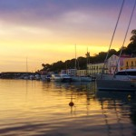 Sunrise on Ischia Island Harbour