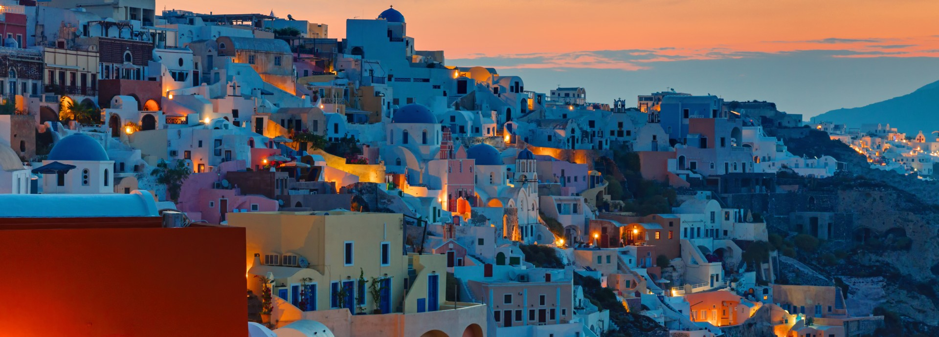 Sunrise over Oia Santorini