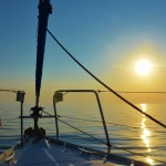 Flat calm morning sailing in the Saronic Islands