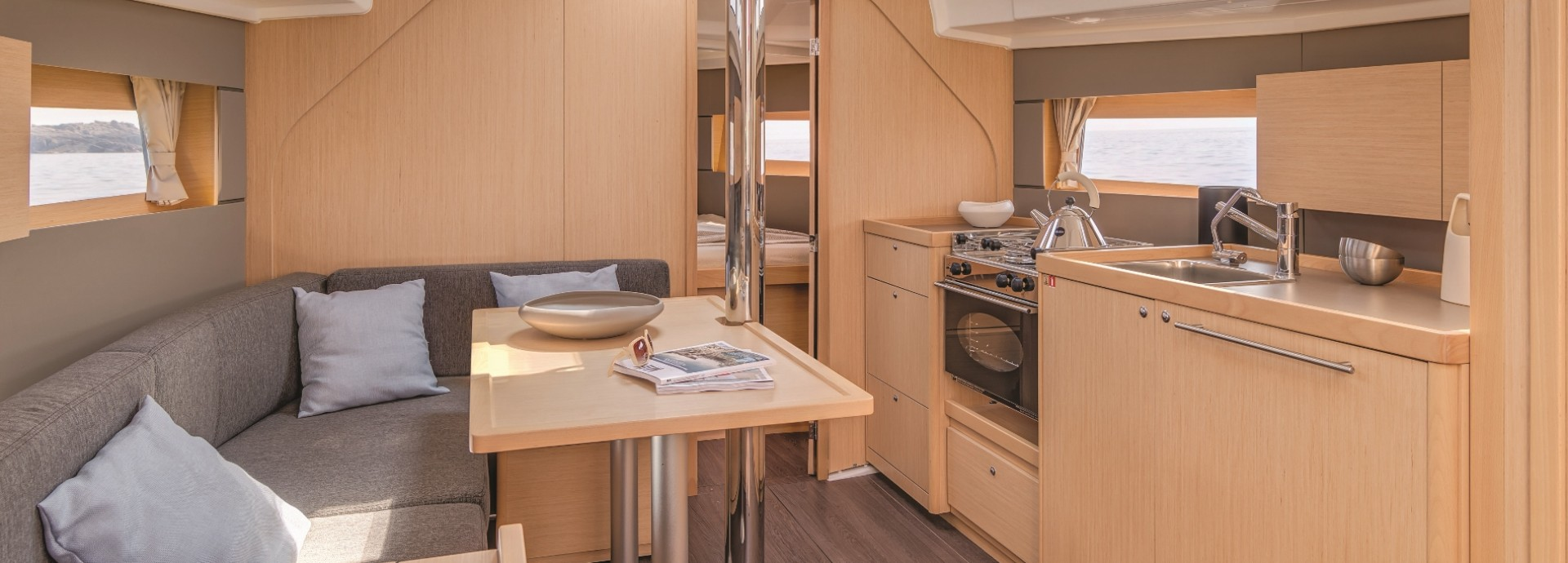 Inside the Beneteau 38