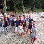 Beach Party on the beach in Lakka