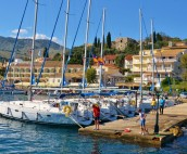 The quay in Kassiopi on Corfu Island