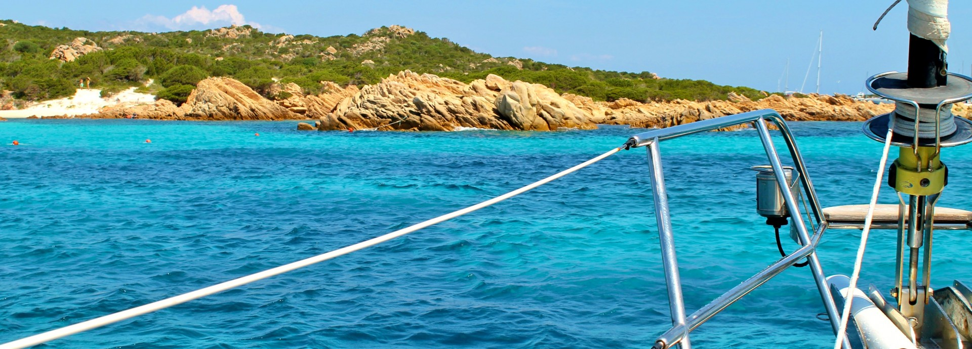 Anchored near Budelli Island Sardinia Italy